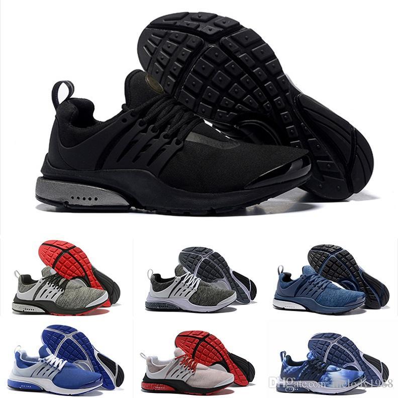 205f3b7c41b Compre 2018 Nike Air Presto Ultra Low 2.0 Flagship Shoes Homens Mulheres  Novo Branco Preto Cinza Azul Rosa Tricô Formadores De Moda Designer De  Tênis ...