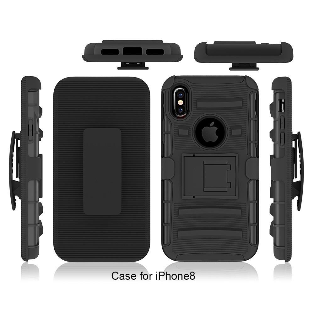 uk availability f5266 87ff6 Dual Layer Full Body Protective Hybrid Rugged Case for iphone 7 8 Plus X Xs  Max XR Shockproof Cover w/ Belt Clip Holster