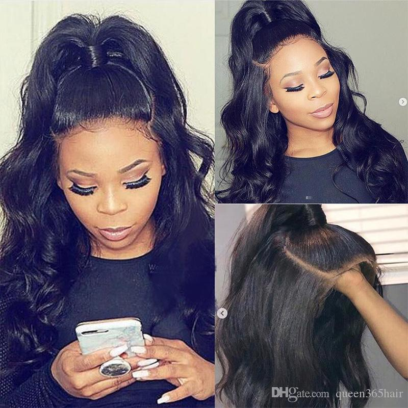 Human Hair Wig 360 Pre Plucked With Natural Hairline Body Wave Virgin Brazilian 360 Lace Frontal Brazilian Wigs 180% density