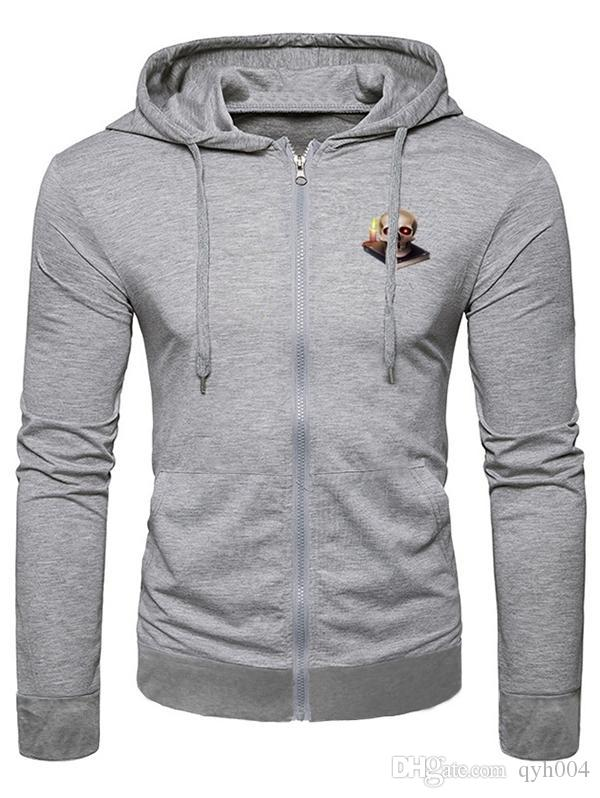 93d34184714 2019 Halloween Candle Skull Pattern Casual Hoodie From Qyh004 ...
