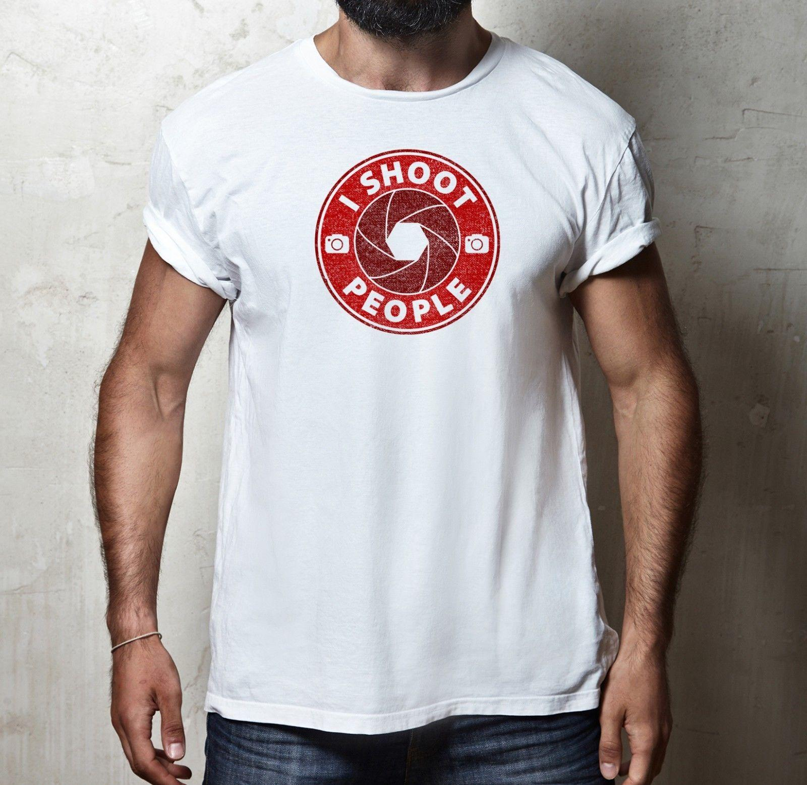 288a0dee9 I SHOOT PEOPLE LOGO T SHIRT 100%COTTON PHOTOGRAPHY PHOTOGRAPHER NIKON CANON  TEE Funny Unisex Casual Tshirt Top Make Your Own T Shirts T Shirt Printers  From ...