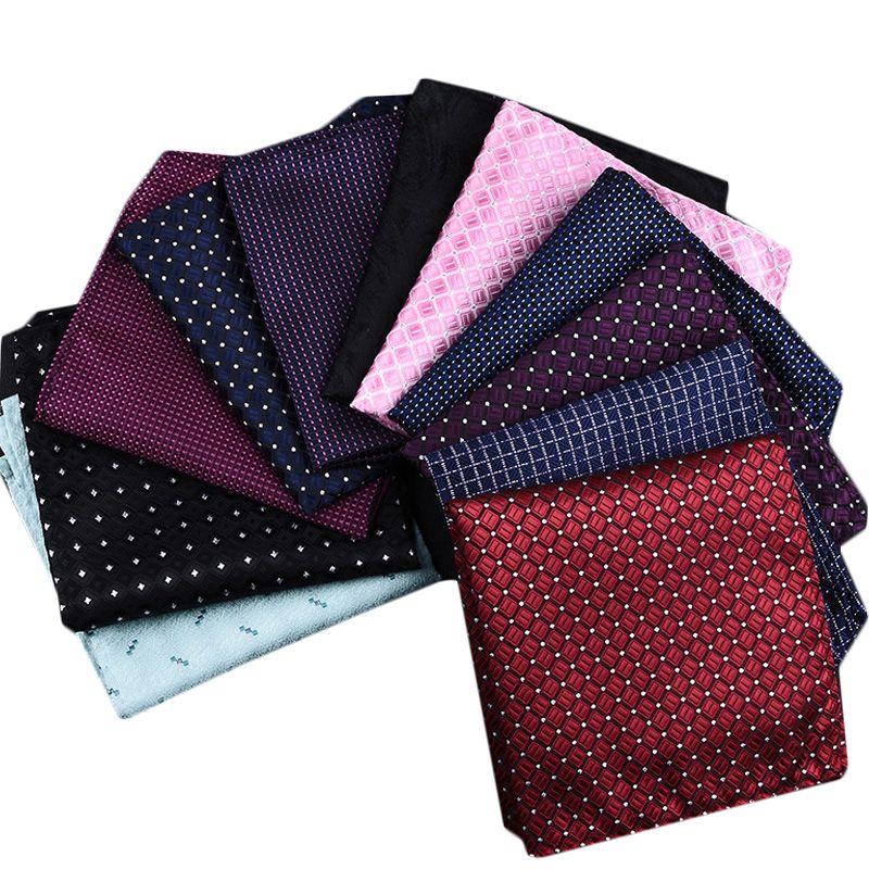 Wedding Men/'s Handkerchief Floral Cotton Classic Jacquard Woven Pocket Square