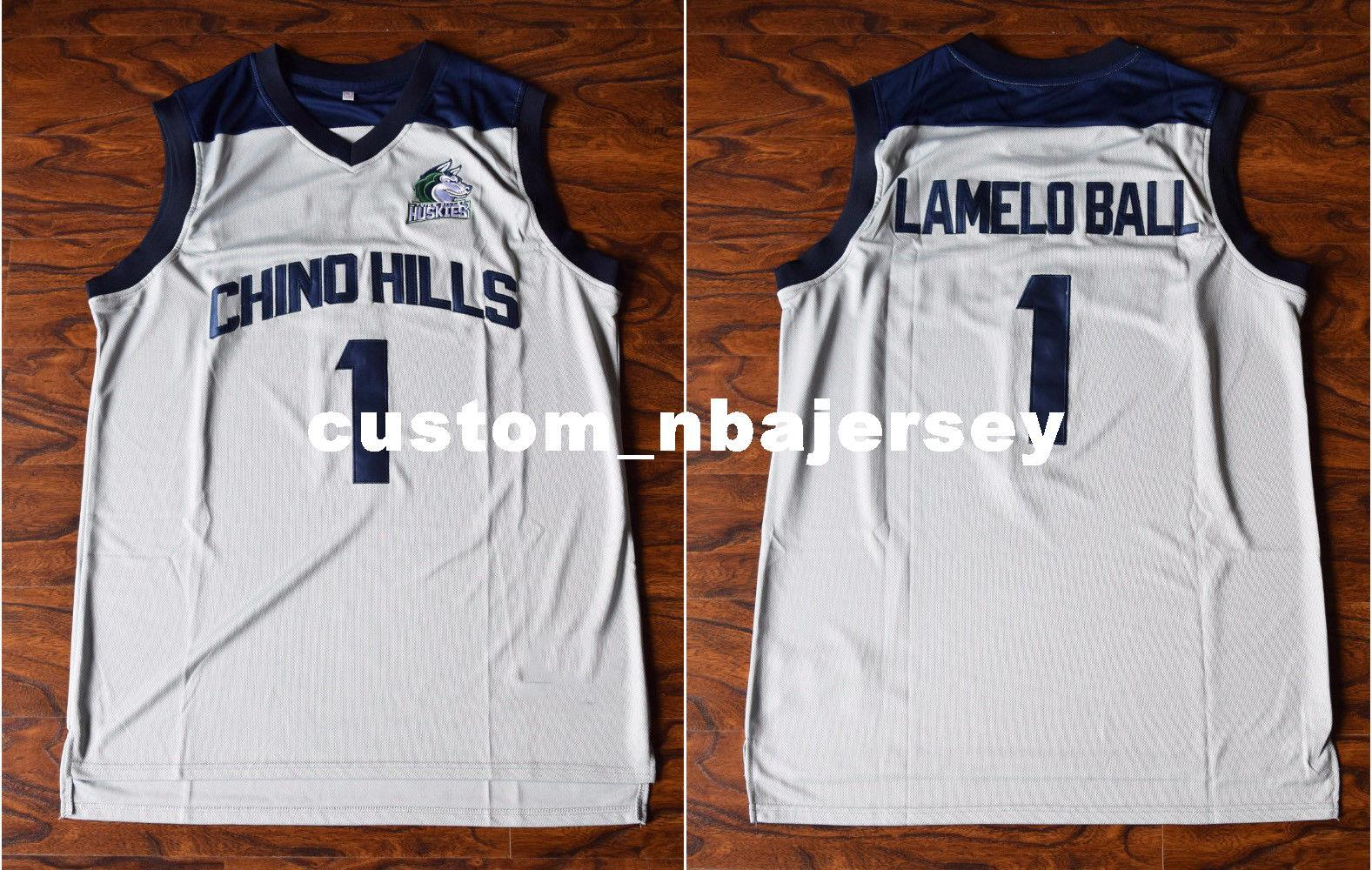 2019 Cheap Custom LaMelo Ball  1 Chino Hill Basketball Stitched Jersey High  School White Stitch Customize Any Number Name MEN WOMEN YOUTH XS 5XL From  ... e4edf57751