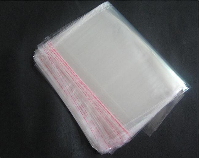 /13cmx20cmTransparent Self Adhesive Seal Plastic Bags OPP Poly Self Sealing Clear Cellophane Bags for Gifts Packaging Bags