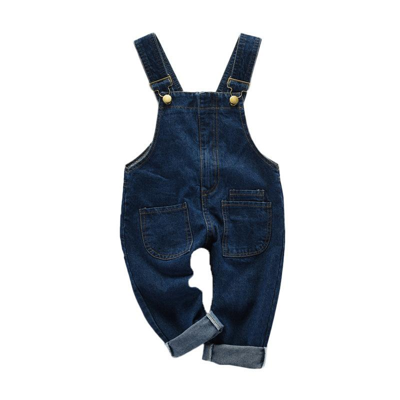 ee7cc3499 2019 New Summer Children's Overalls For Girls Denim Blue Solid Jumpsuit  Pants Fashion Kids Baby Girls Overall Clothing 4ov025