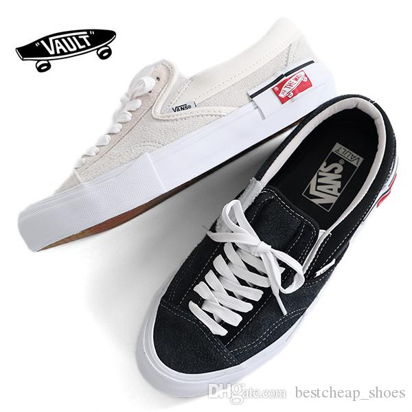 5aa3f36069174b 2019 New Vans Vault Slip On Cap LX Old Skool Men Casual Shoes Skateboard  Canvas Sports Mens Running Shoes Vans Sneakers Trainers Size 36 44 From ...