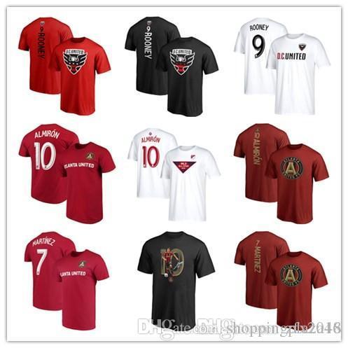 low priced 6d9f3 e655c New MLS soccer jersey #7 Blake Martinez #9 Wayne Rooney D.C. #10 Miguel  Almiron United Fanatics Branded Backer Football T-shirts Black Red