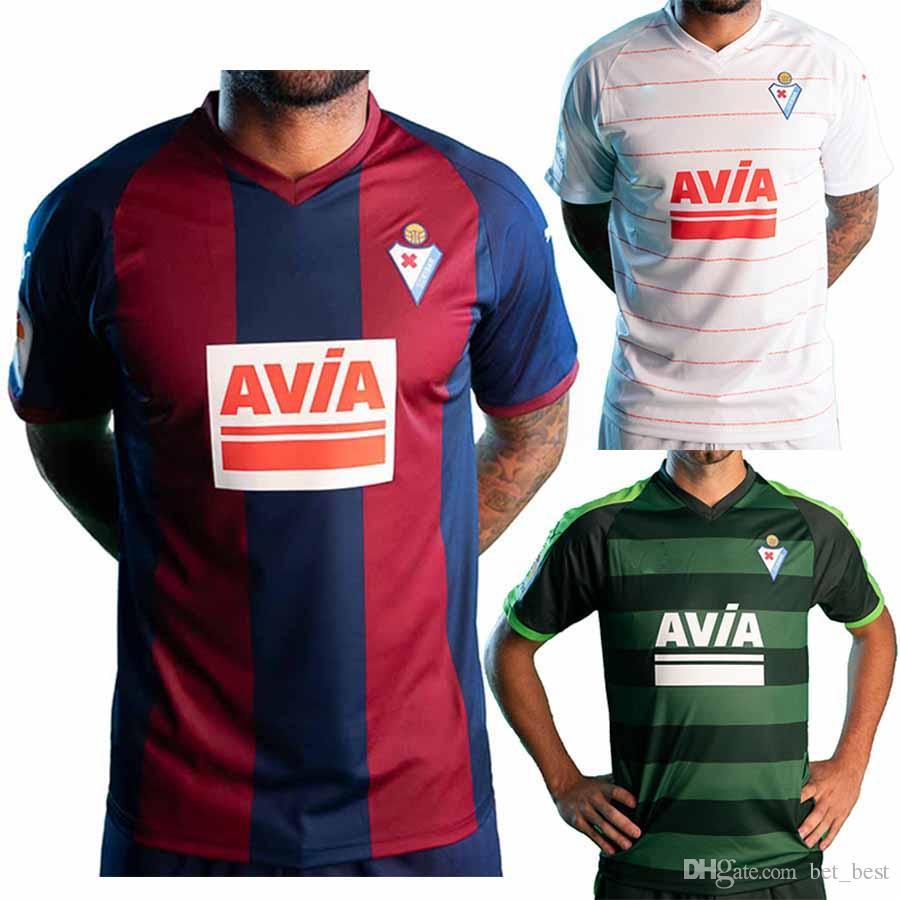 5e85650c2 2019 Primera Camiseta Azulgrana Adulto Eibar Soccer Jersey De Blasis  Cucurella 18 19 Camiseta Roja De Fútbol Local Por Bet best