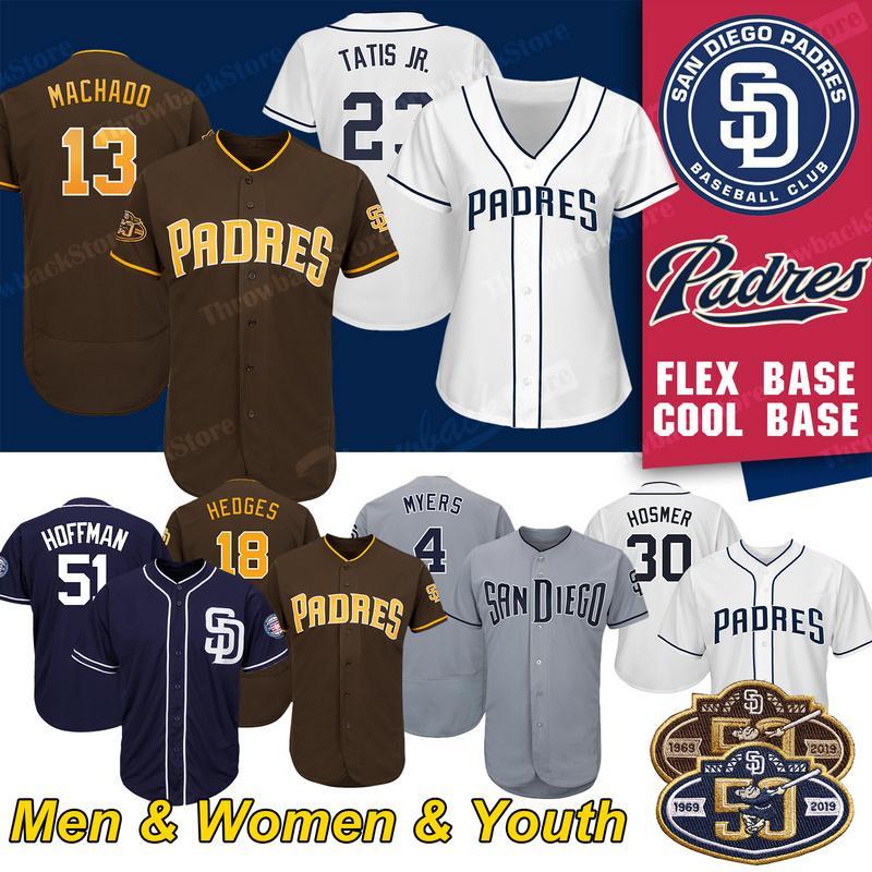 new style 806ad df3ec San Diego Custom Padres Jerseys Fernando Tatis Jr 23 Manny Machado 13 Tony  Gwynn Eric Hosmer Baseball Jersey