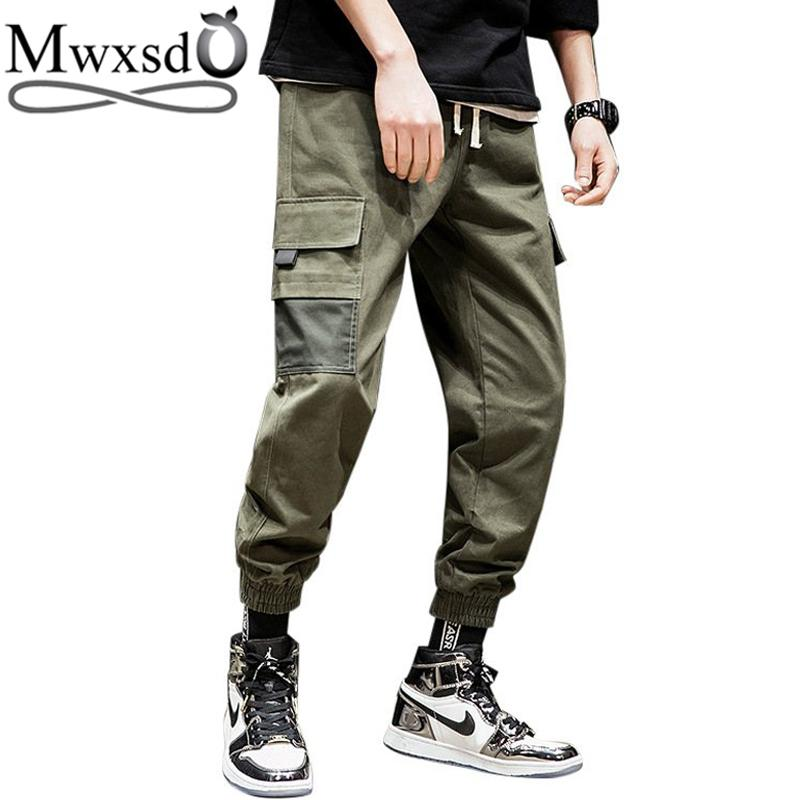 f925917ed 2019 Mwxsd Brand 2019 New Mens Elastic Waist Harem Pants Men Cotton Causal  Cargo Pants Ankle Banded XXl From Beenni, $57.29 | DHgate.Com