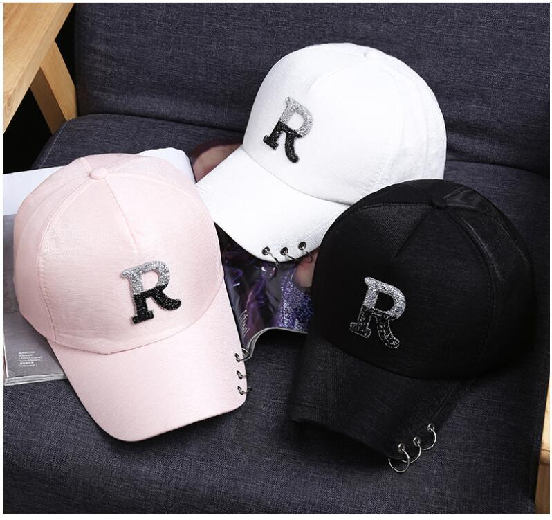 3be69049 Summer Breath R Letters Hat Men Outdoor Women Sports Hats For Men Baseball  Cap Ladies Sun Hat Women Adjustable Sneakers Caps