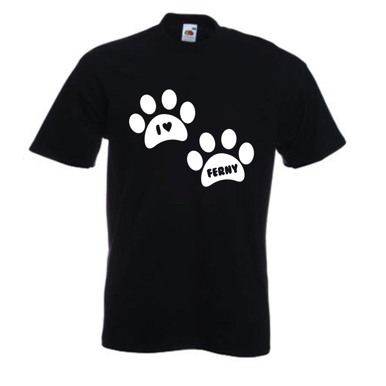 5f5fb8d3a I HEART DOG PAW 2 PERSONALISED T SHIRT SIZES S XXL Style Round Style Tshirt  Tees Custom Jersey T Shirt Graphic T Shirt Design Own T Shirt From  Happyalltee