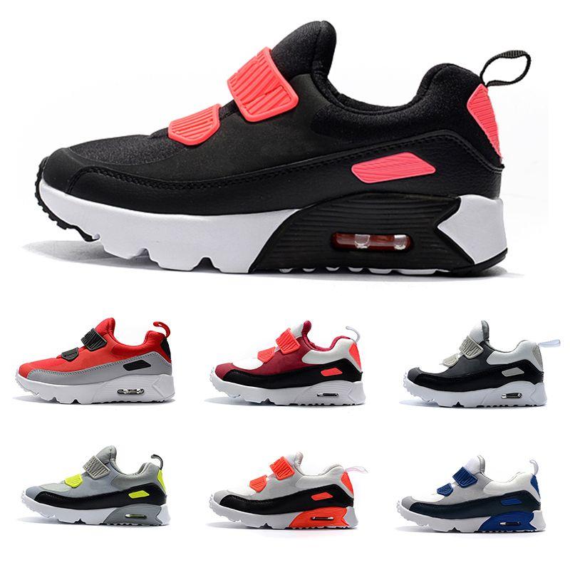 f694a2e8bb Compre Nike Air Max 90 Sapatilhas Kid Shoes Presto 90 II Crianças Esportes  Ortopédicos Juventude Crianças Formadores Infantil 90 Meninas Meninos Ao Ar  Livre ...