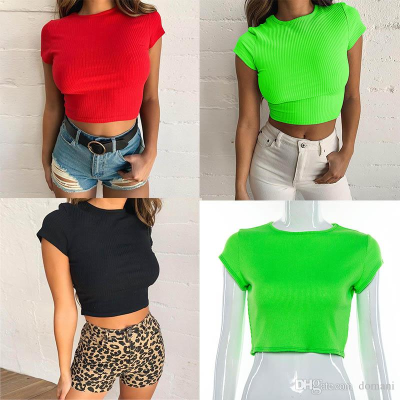 9bb021e32e8 T Shirts Women Clothes Crop Tops Women T Shirt Blouse Red Black Green Women  Tanks Sexy Casual New Summer Drop Shipping Best Online Site For T Shirts  Shirts ...