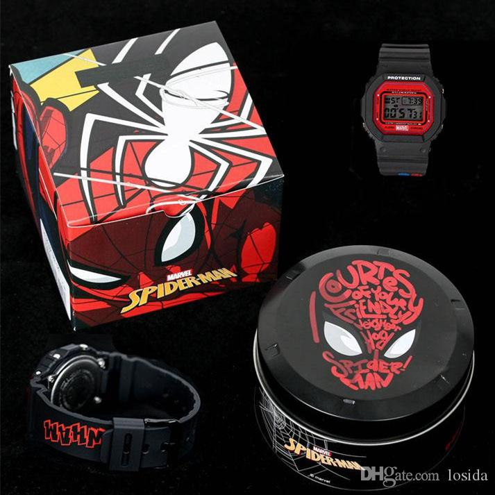 2019 New Top quality Fashion Luxury Watch shock Watch Marvel Avengers G5600 Sports Watch Metal Box