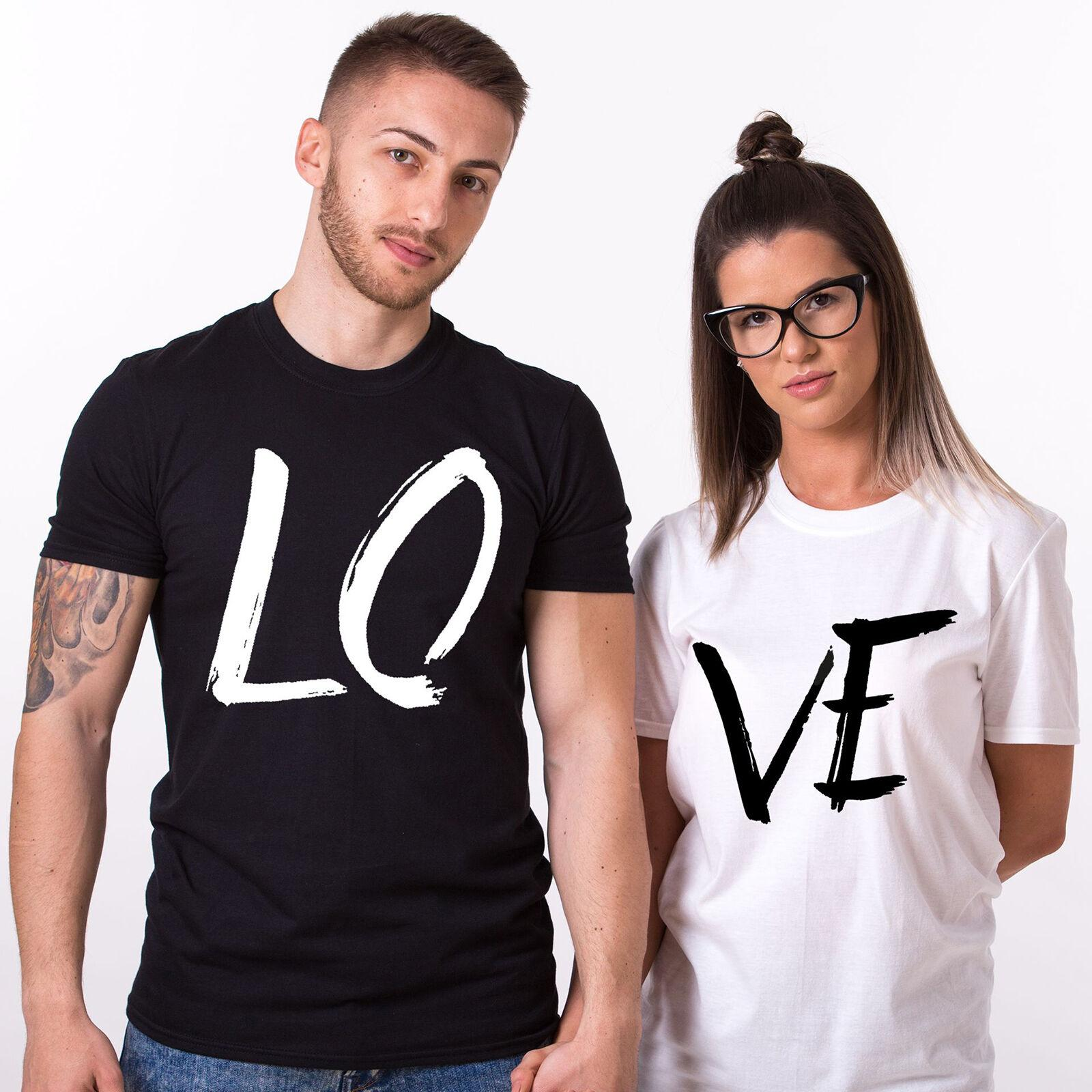 01663c07 Couple T-Shirts LOVE Matching Shirts Summer Tee Top Valentine's Day His and  Hers Men Women Unisex Fashion tshirt Free Shipping