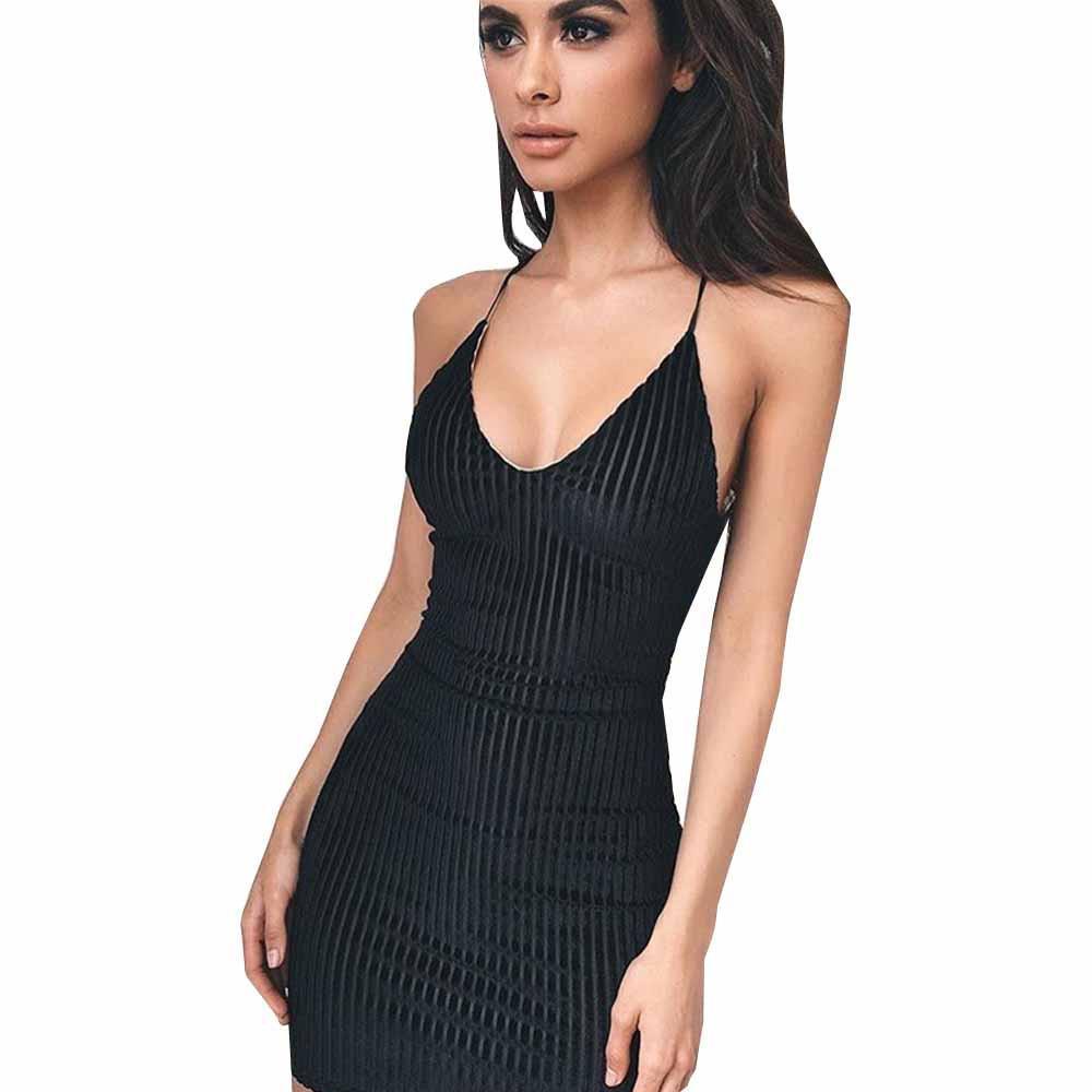 Good Quality Womens y Deep V Neck Sleeveless Harness Dresses ...