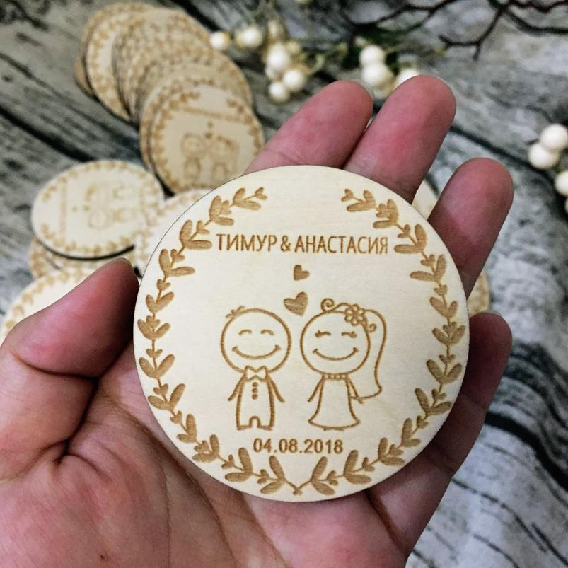 Customized Wedding Wood Favors, Save The Date Wood Magnets, Engraved Wedding Gifts For Guests Souvenirs Decoration Party Favors Kids Party Favors Online ...