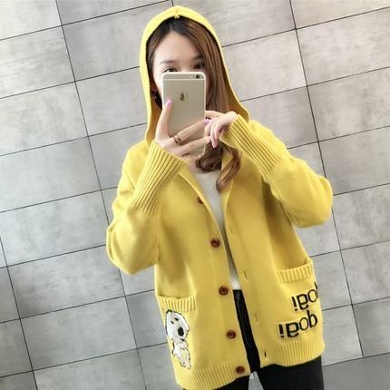 5b28afe6b3dd 2019 2019 Autumn Winter Cardigans Sweaters Fashion Hooded Long ...