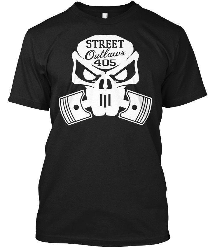 Street Outlaws 405 Skull - No Prep King - Drag Racing - Hanes Tee T-Shirt
