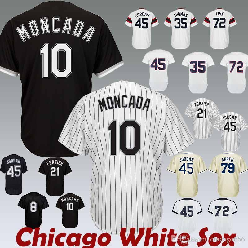 fd1431e70 2019 White Sox Jerseys Chicago10 Yoan Moncada 35 Frank Thomas 8 Bo Jackson  21 Todd Frazier Jersey From Sports beansprout