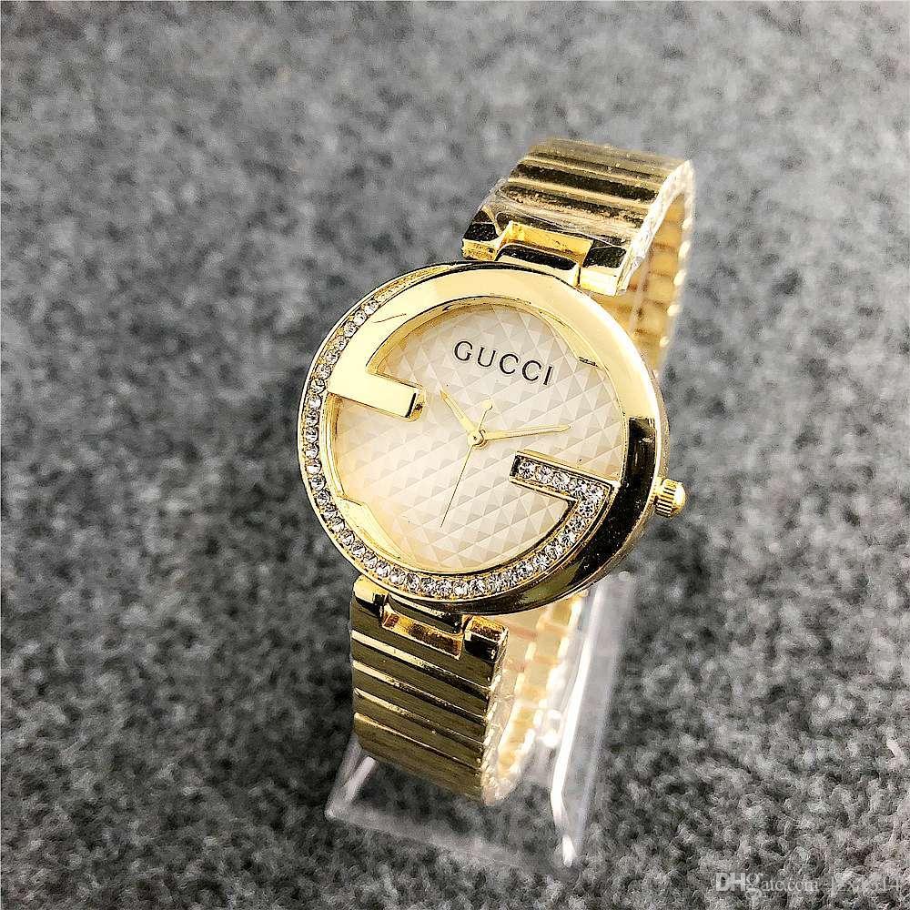 Compre Aaa Reloj De Lujo Para Dama De Diamantes Con Diamantes De Imitación  A Prueba De Agua Reloj De Cuarzo Diamante De Moda Para Mujer Reloj De Oro Y  ... c693bd639df9