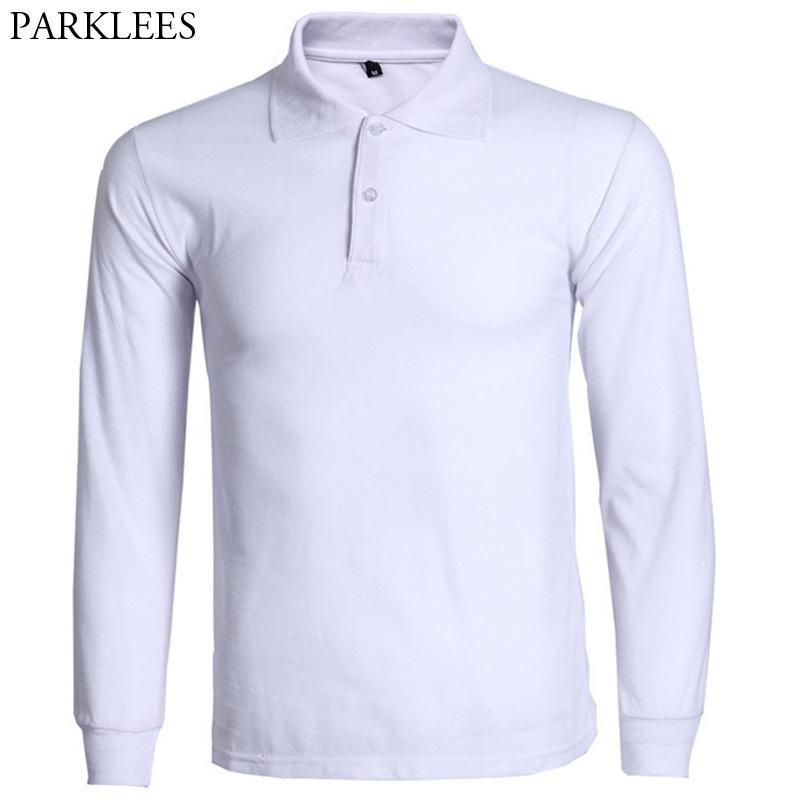 4c681cc38 Fashion Shirt Men Camisa Masculina 2017 Brand New Mens Slim Fit Long Sleeve  Polo Shirts Casual Cotton Polos Hombre 3xl C19041501 Mens T Shirt Cool  Tshirt ...