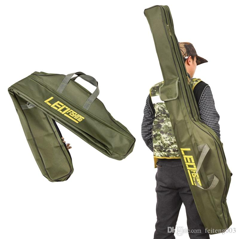 Security & Protection Portable Fishing Bags Folding Fishing Rods Canvas Fishing Gear Bags Storage Case Dental Fishing Leo