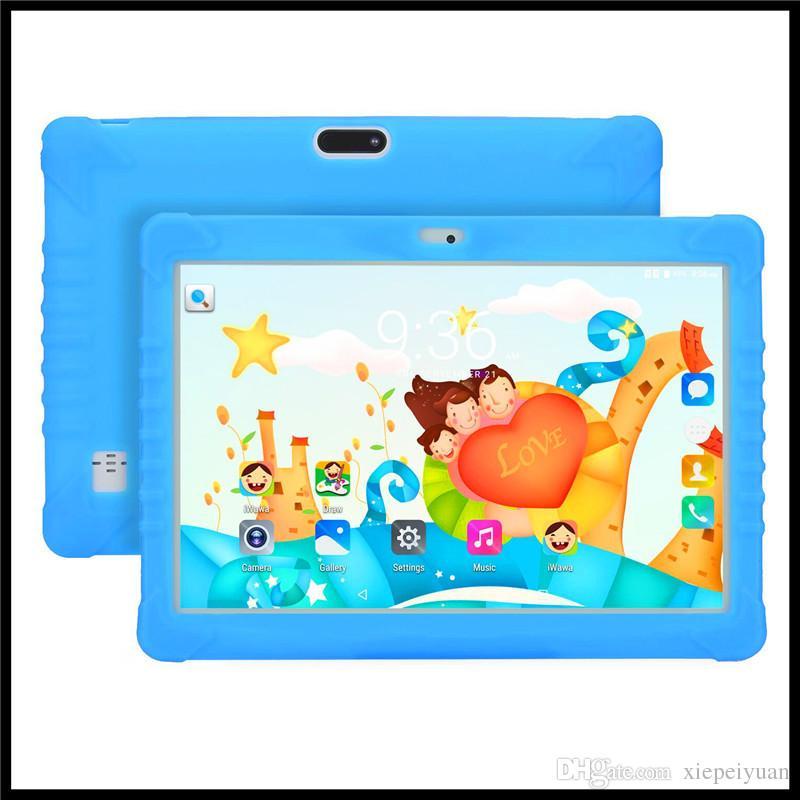 2019 Kindermarke 10-Zoll-Kind MTK6580 IPS kapazitiver Touchscreen Dual-SIM-3G-Kinderkinder Tablette Telefon PC Google Play Android 7.0