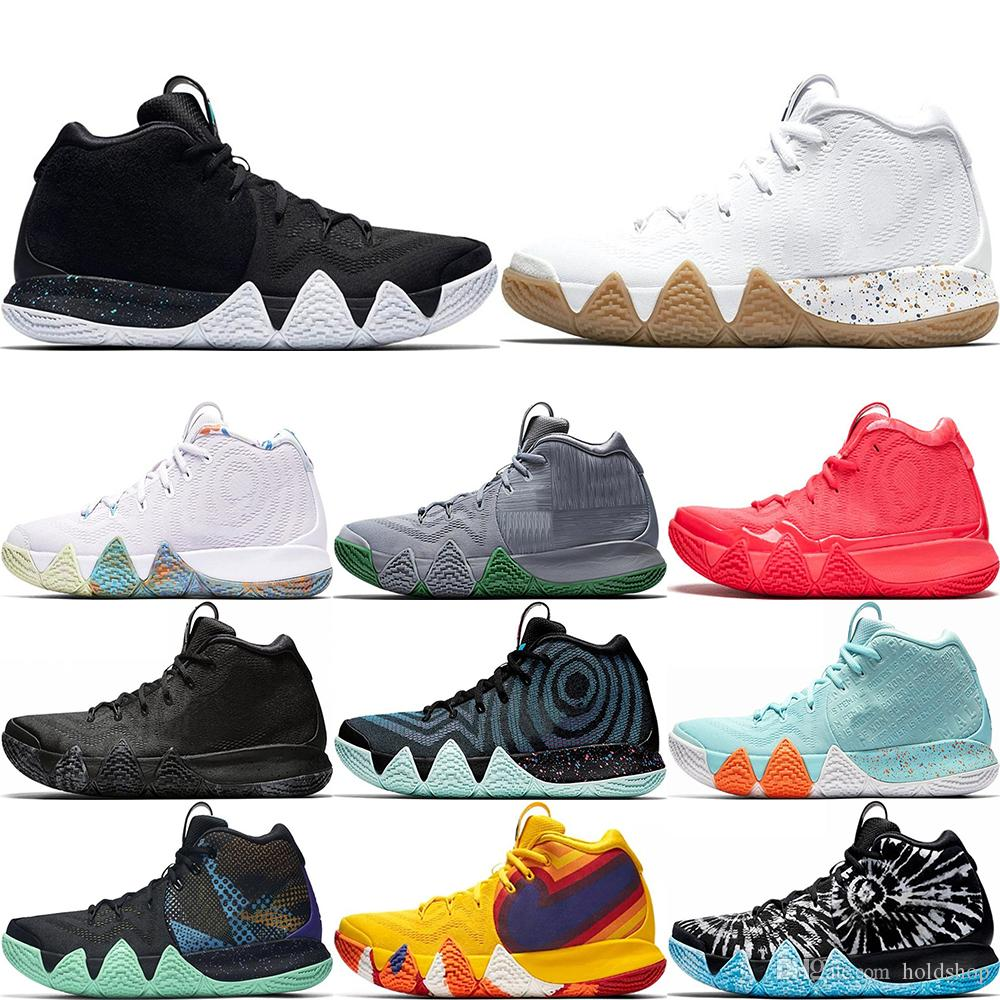 pretty nice c567d 9edef 4s Kyrie Irving Lucky Charms Mens Basketball Shoes Confetti BHM EQUALITY  All-Star March Madness City Guardians London Mamba Sneakers 40-46