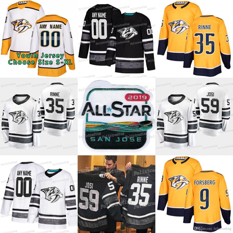 brand new 5a68e ed412 2019 All Star Nashville Predators Craig Smith P.K Subban Filip Forsberg  Roman Josi Pekka Rinne Ryan Ellis Johansen Kevin Fiala Hockey Jersey