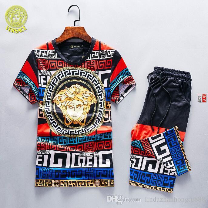 3f2123a69 2019 2019 TL02 New Summer Mens Sportswear Short Sleeved Gucci T ...