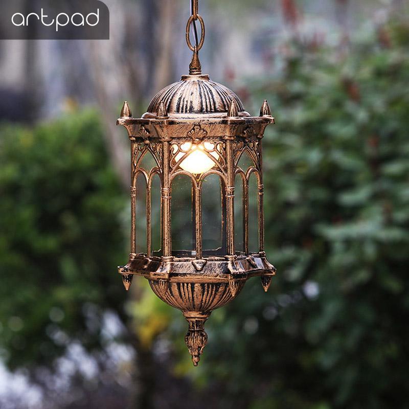 Artpad Nordic Rural Waterproof Light Outdoor Hanging Pendant Lights