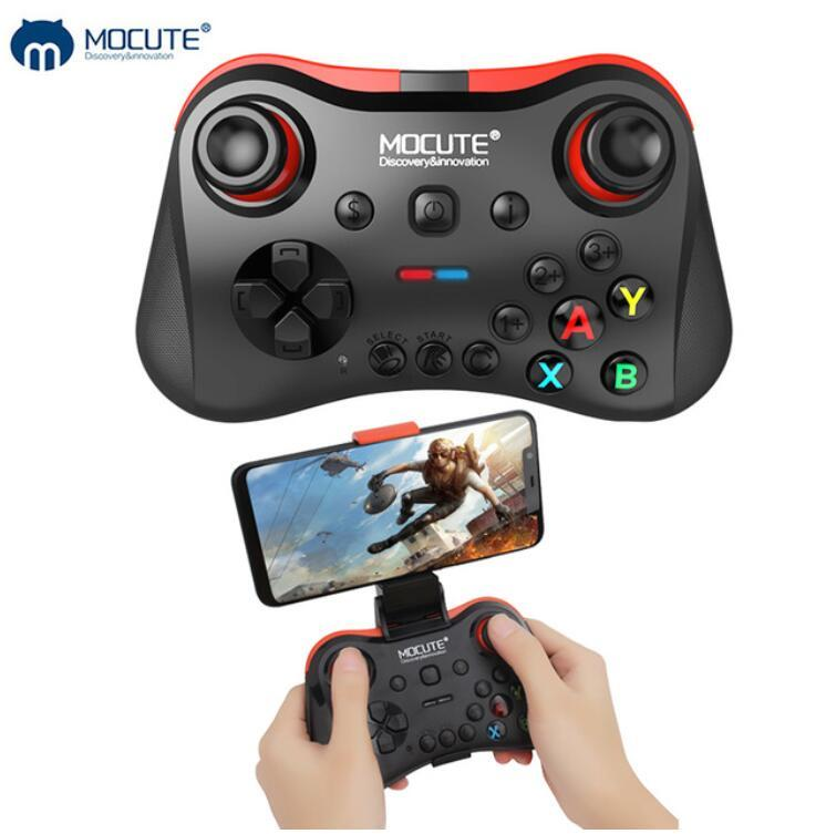 Mocute 056 Bluetooth Gamepad inalámbrico Android / IOS Phone Consola de juegos PC TV Box Joystick VR Controlador Joypad móvil para GB / CF / Pubg Juegos