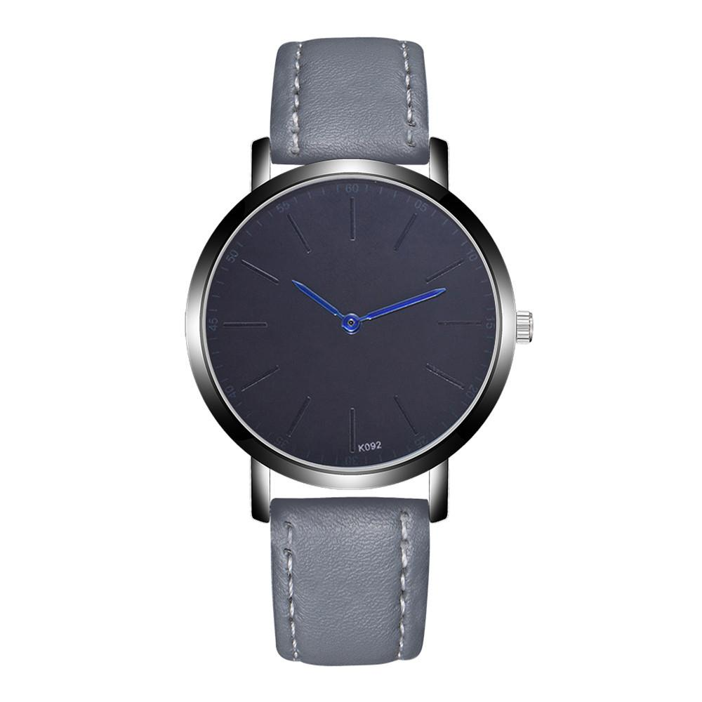 Hombres relojes deportivos Moda Hombre Reloj Regalo Banda de cuero Aleación analógica Reloj de pulsera de cuarzo Hombres de lujo Reloj Reloj Relogio