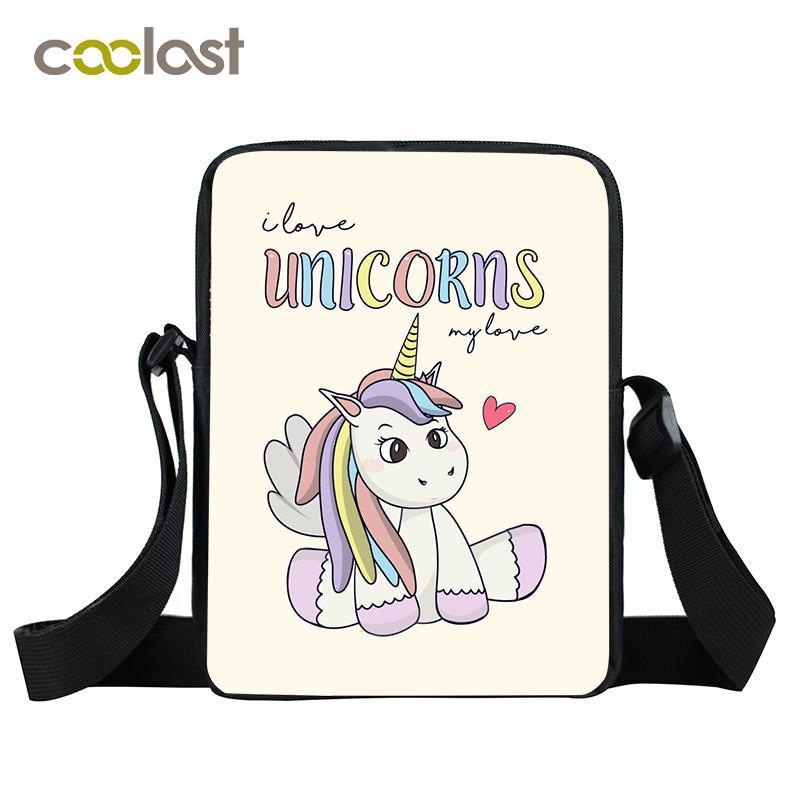 cb1d36c4e7cd Designer Cartoon Unicorn Bags For Women Handbag Cute Little Uni Crossbody  Bag Boys Girls School Bags Ladies Purse Small MenTravel Bag Messenger Bags  ...