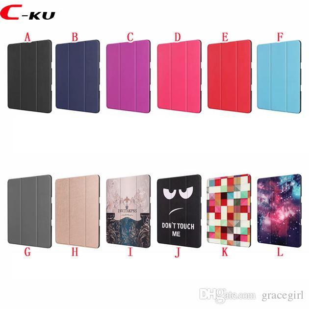 "Auto Sleep Wake Cartoon Owl Fold Wallet Leather Case For Ipad Pro 12.9"" 2018 Sky Star Tower Don't Touch Me Smart Stand Flip Skin Cover 20pcs"