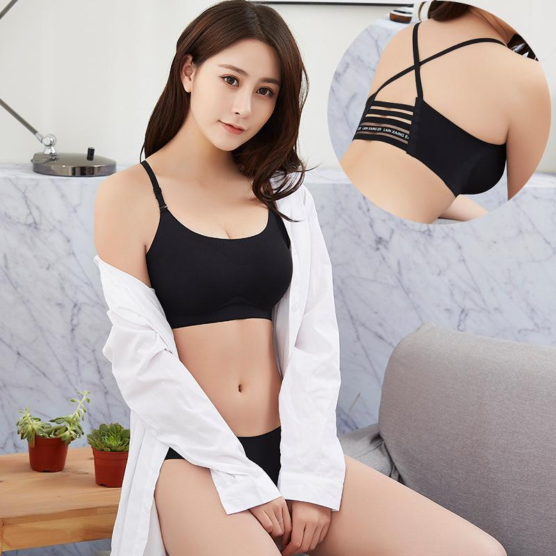MISHI VS Secret Pink Wireless Bra Tops Padded Seamless Bralette Brassiere Sexy Lingerie Crop Top Sutian Bralet Women lengerie