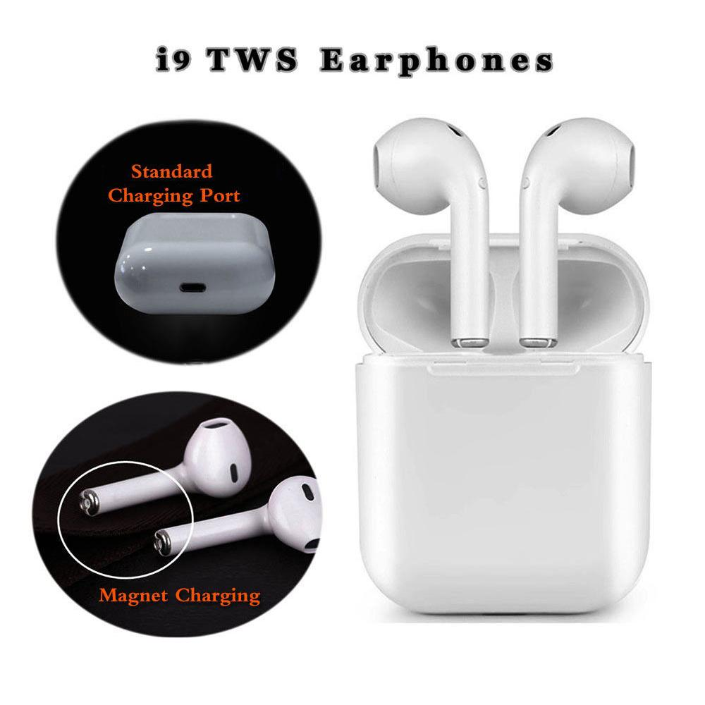 28c76f58998 Earphone Magnetic Charger Box Earbuds I9 TWS Bluetooth Earphones Mini  Wireless Headset Stereo Headphones All Smart Headphone Gaming Headphones  Headphone ...