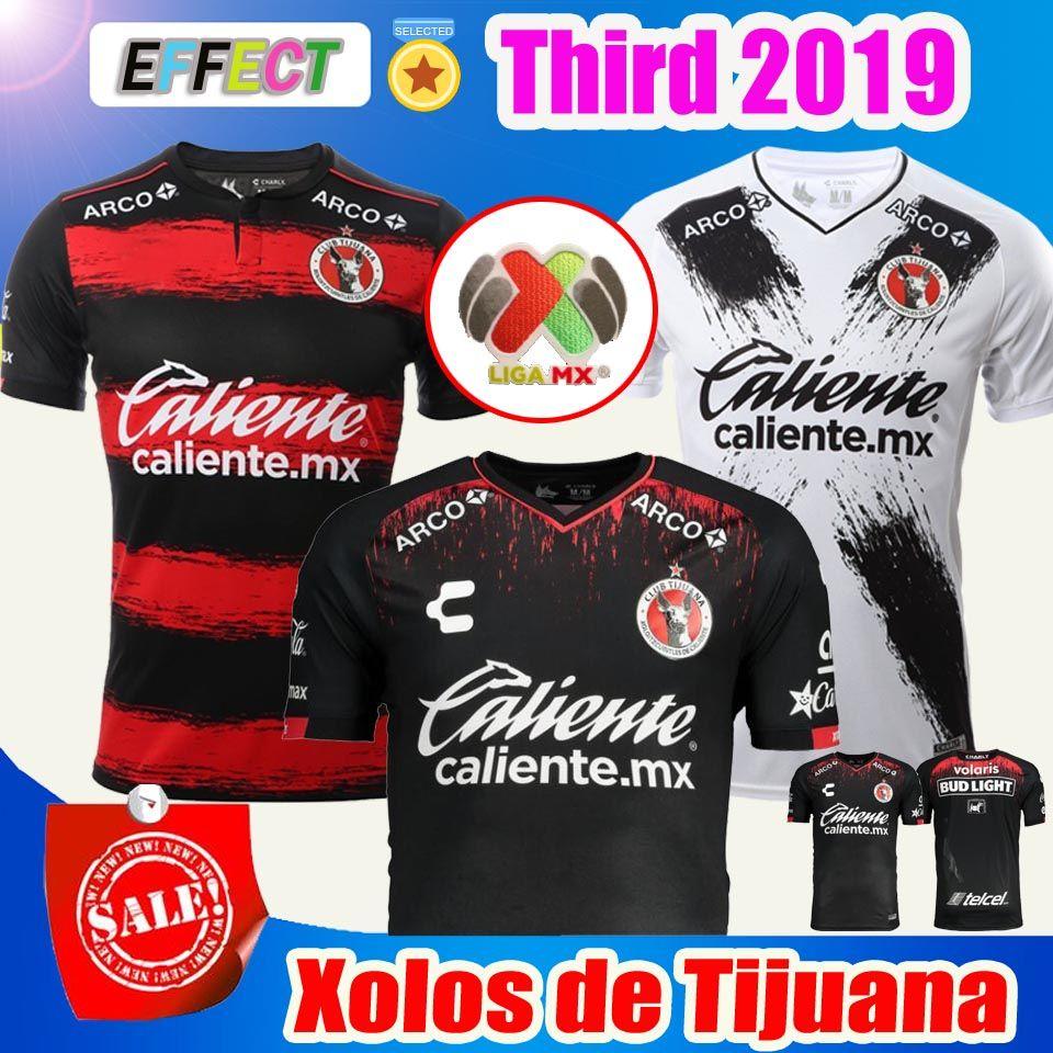 6b164883d Großhandel 2018 2019 Xolos De Tijuana CHARLY Trikots AP 18 19 Mexiko Club  LIGA MX Nach Hause Dritte Dritte Schwarze Tijuana Fußballshirts Von  Effectsports