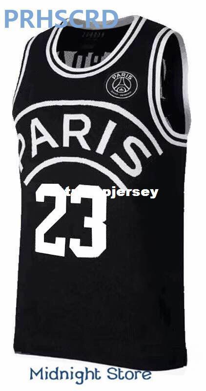 e489ea0f33bb7 2019 2018 New AJ PSG Jerseys 23 Michael MJ NEYMA 10 Jr Jersey 7 MBAPPE  Basketball Balck Jersey Vest Jerseys Ncaa From Retrotopjersey