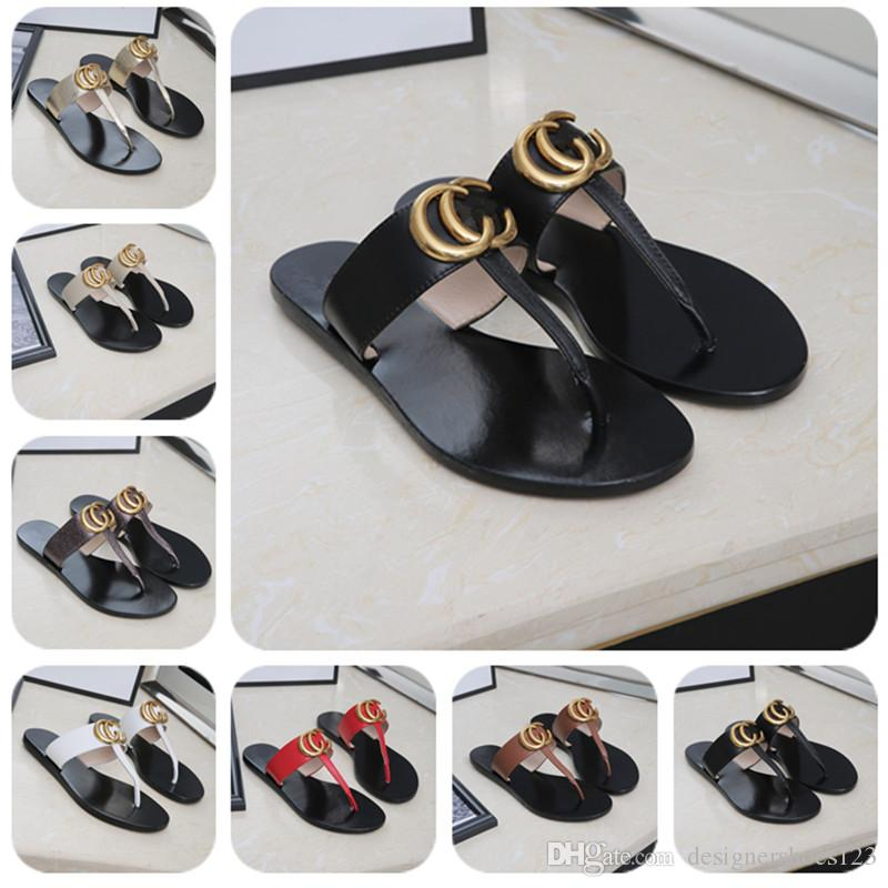 d77f34a8a Fashion Luxury Designer Flip Flop Women Shoes Designer Luxury Women Shoes  2019 Designer Women Flip Flop With Box Ladies Shoes Red Shoes From ...