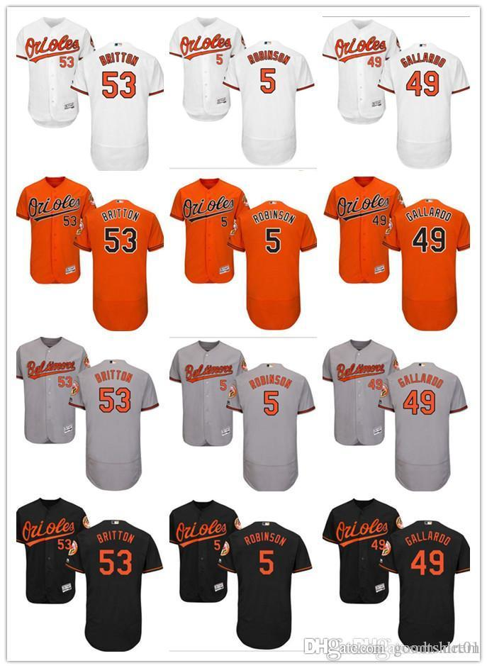 buy popular 0b10e d3952 custom Men women Orioles Baltimore Jersey #5 Brooks Robinson 49 Yovani  Gallardo 53 Zach Britton Baseball Jerseys
