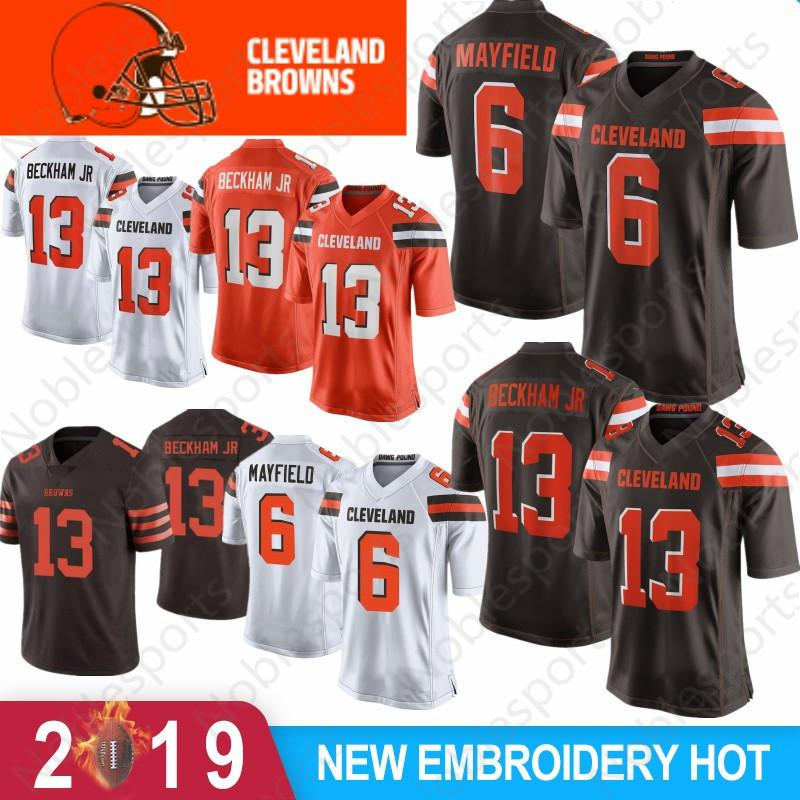 abcd6959dca 2019 13 Odell Beckham Jr Jersey 6 Baker Mayfield 80 Jarvis Landry 95 Myles  Garrett Cleveland Nick Chubb Ward Thomas Peppers Browns Youth 2019 From ...