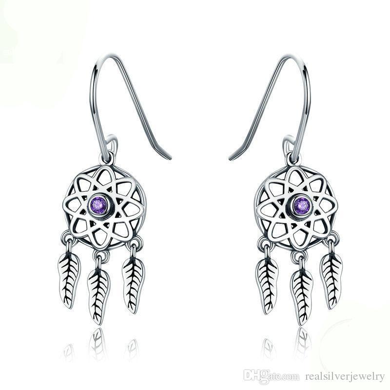 df353645a 2019 Genuine 100% 925 Sterling Silver Dream Catcher Holder Drop Earrings  For Women Sterling Silver Jewelry Gift YMSCE394 From Realsilverjewelry, ...