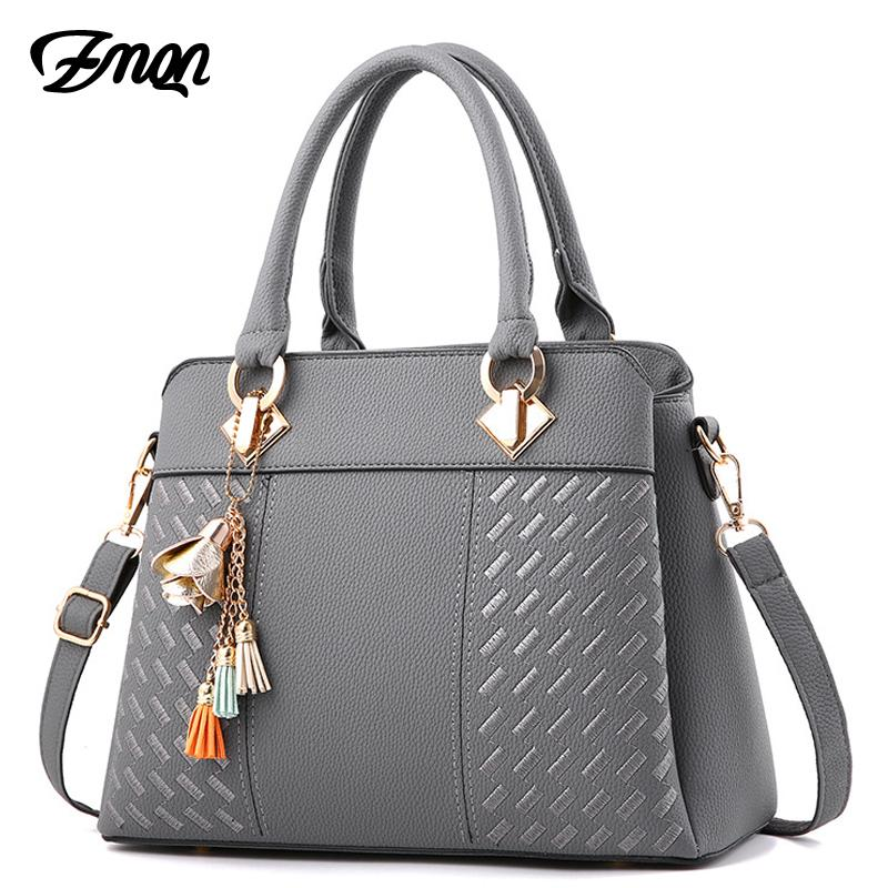 647f3e93ebf ZMQN Women Handbags For 2019 Luxury Handbags Women Bags Designer Leather  Handbag Tassel Shoulder Bag Wmen Bolsa Gray A711