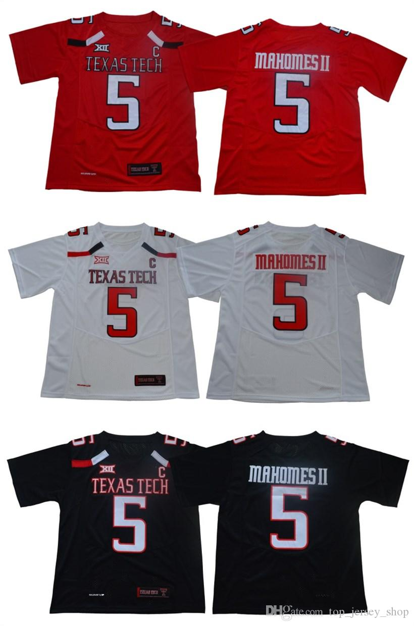 9be98a3802b Men's Texas Tech Jersey #5 Patrick Mahomes II stitched red black white red  College Football Jerseys