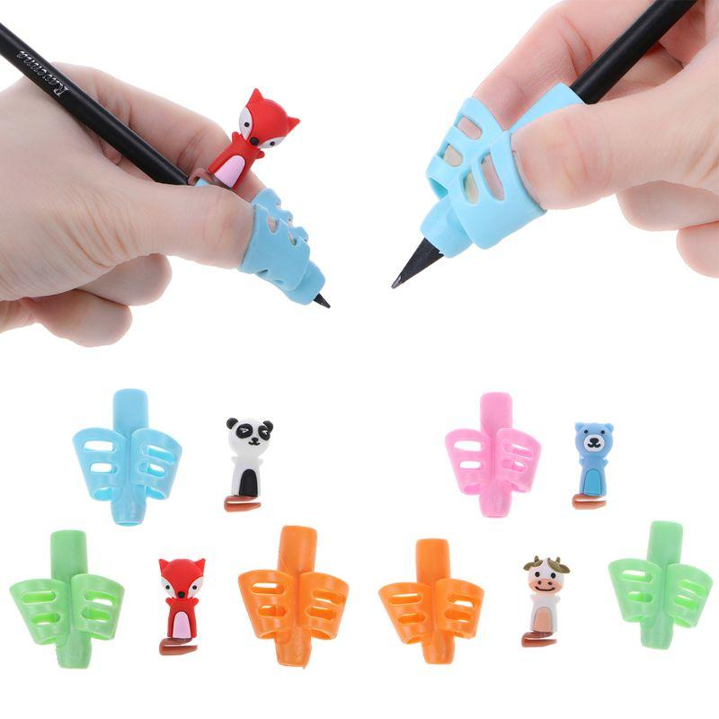 3Pcs Children Pencil Holder Pen Writing Aid Grip Posture Correction Tools Office School Supplies C26