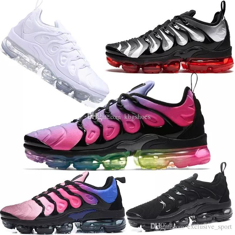 purchase cheap ca766 28f1c Acquista Nike TN Plus Air Max Airmax Vapormax 2019 TN Plus Scarpe Da  Ginnastica Da Uomo Sneakers PURE PLATINUM Triple Nero Bianco USA Cool Lupo Grigio  Da ...