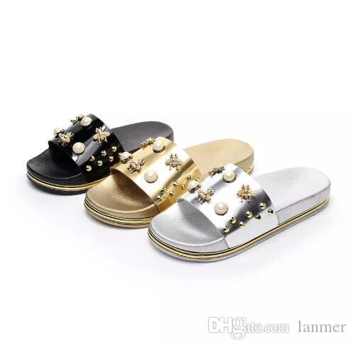 5eaa5c4aa20c Senza Fretta Women Summer Slides 2018 Peep Toe Sandals Glitter Platform  Slippers Comfortable Flat Heels Slippers Girls Shoes Bearpaw Boots From  Lanmer